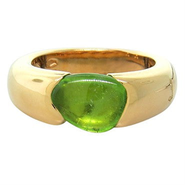 thumbnail image of New Pomellato Sassi 18k Gold Peridot Ring
