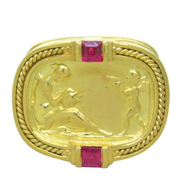 thumbnail image of Seidengang 18K Yellow Gold Ruby Dome Ring
