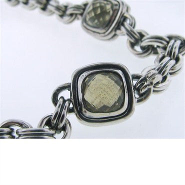 thumbnail image of Estate Scott Kay Sterling Champagne Quartz Necklace