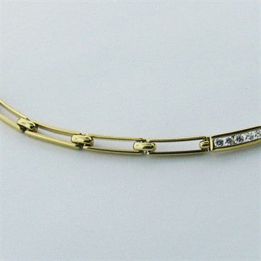 thumbnail image of Estate Tiffany & Co 18k Gold 1.25ct Diamond Necklace