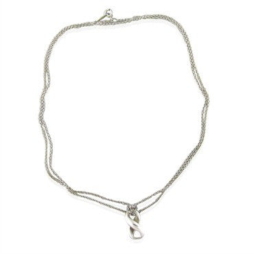 image of Tiffany & Co. Sterling Multi Strand Chain Infinity Pendant Necklace