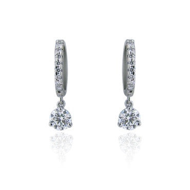 thumbnail image of Hearts On Fire Leverback 0.59ct Diamond Earrings