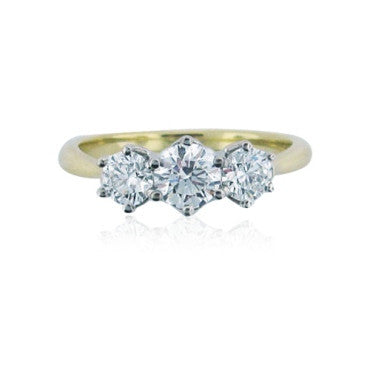 thumbnail image of Hearts On Fire Sincerity 18k Gold 1.00ctw Diamond Ring