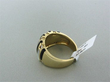 thumbnail image of Kabana 14K Gold Diamond Mother Of Pearl Onyx Ring
