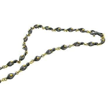 thumbnail image of New Gurhan 24k Gold Oxidized Silver Necklace