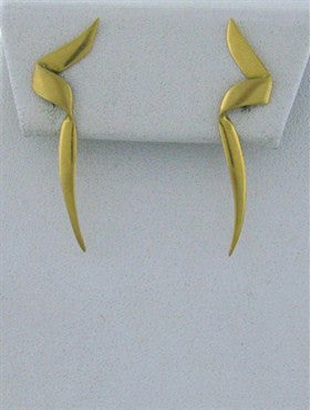 image of Vintage Tiffany & Co 1983 Paloma Picasso 18K Gold Earrings