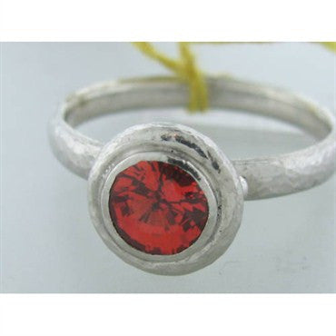image of New Gurhan Platinum Orange Sapphire Ring