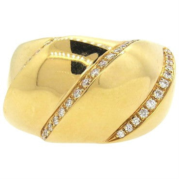 thumbnail image of Bucherer Large Diamond 18k Rose Gold Dome Ring