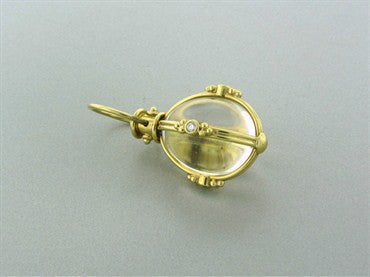 thumbnail image of Temple St. Clair 18K Yellow Gold Crystal Diamond Large Amulet Pendant