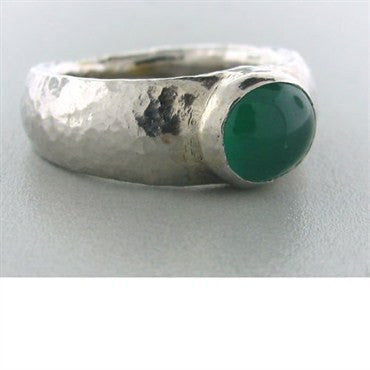 image of New Gurhan Platinum Cabochon Emerald Ring