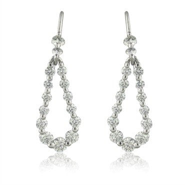 image of New Hearts On Fire Provocative 18K Gold 1.64ctw Diamond Drop Earrings