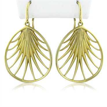 image of Tiffany & Co Paloma Picasso 18K Yellow Gold Villa Paloma Palm Earrings