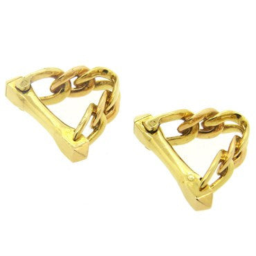 image of Cartier Paris 18k Gold Stirrup Cufflinks