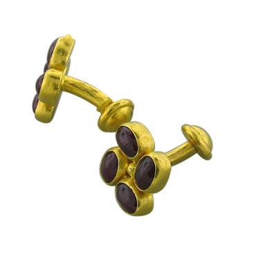 thumbnail image of New Gurhan 24k Gold 12.35ct Ruby Cufflinks
