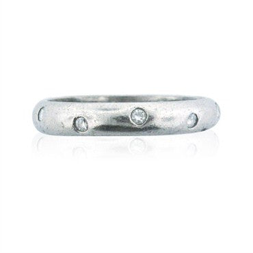image of Estate Tiffany & Co Etoile Platinum Diamond Band Ring