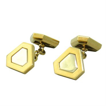 image of Classic Triangles Marina B 18k Gold Cufflinks