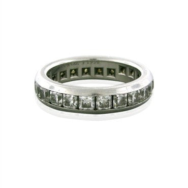 image of Tiffany & Co Lucida Platinum Chanel 2.50ctw Diamond Wedding Band Ring