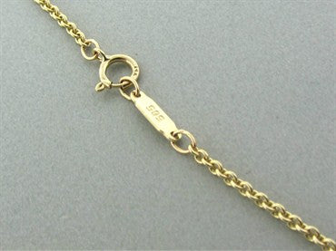 thumbnail image of Vintage Tiffany & Co 14K Yellow Gold Heart Locket Pendant Necklace