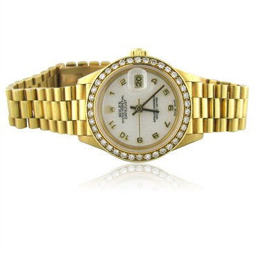image of Rolex President 18K Gold Jubilee Dial Diamond Ladies Watch 69178