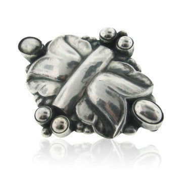 image of Estate Georg Jensen Sterling Silver Brooch Pin 54