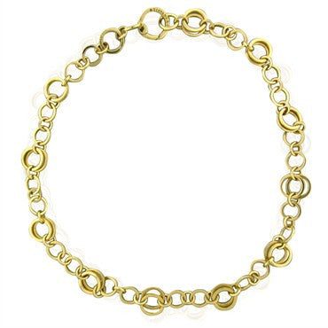 image of Tiffany & Co 18K Yellow Gold Circle Link Chain Necklace