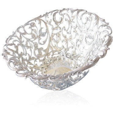 image of Antique Howard & Co Sterling Reticulated Bowl