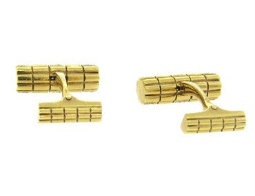 image of Diamond Gold Cufflinks
