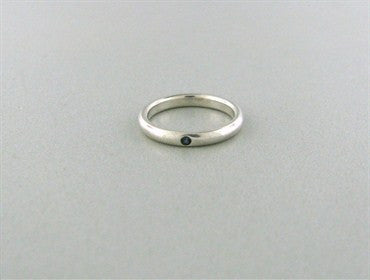image of Tiffany & Co Elsa Peretti Sterling Silver Sapphire Band Ring