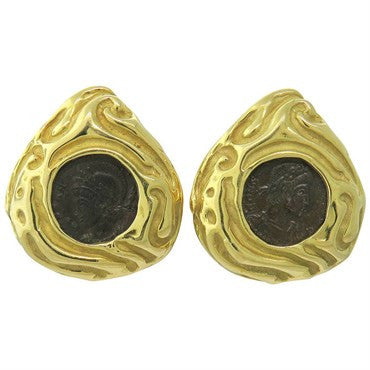 thumbnail image of Elizabeth Gage Gold Ancient Coin Earrings