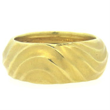 image of Pedro Boregaard 18k Gold Wide Band Ring