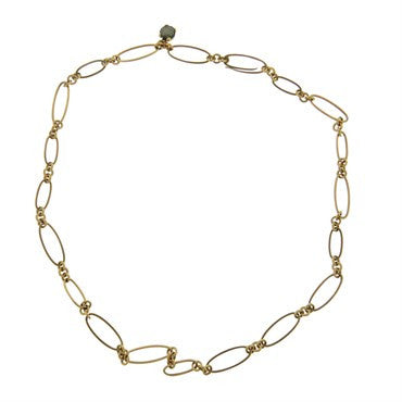 image of New Pomellato Arabesque 18k Gold Link Necklace