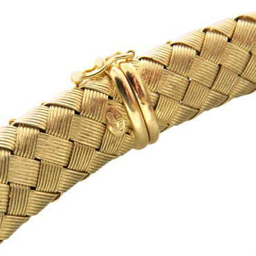 thumbnail image of Roberto Coin 18k Gold Sapphire Woven Necklace