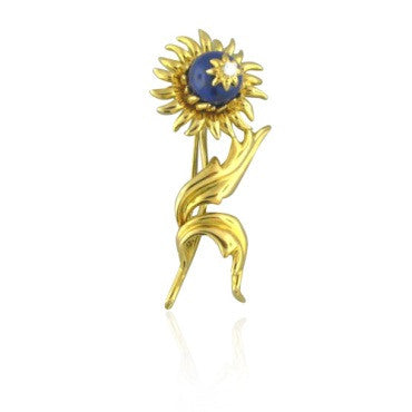 image of Tiffany & Co Schlumberger Diamond Sunflower Brooch Pin