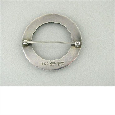 thumbnail image of Georg Jensen Sterling Silver Circle Flower Brooch 301