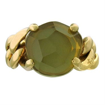 image of New Pomellato Lola 18k Gold Lemon Citrine Ring