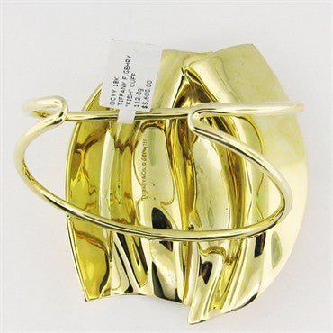 image of Huge Estate Tiffany & Co Gehry 18K Gold Fish Bracelet