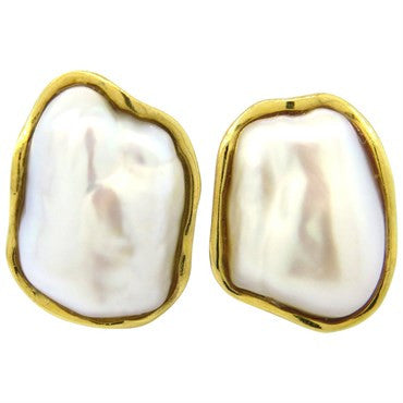 thumbnail image of Tiffany & Co. Pearl 18k Gold Earrings