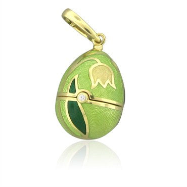 image of Faberge Four Seasons 18K Gold Diamond Enamel Locket Enhancer