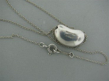 thumbnail image of Estate Tiffany & Co Peretti Bean Sterling Pendant Chain Necklace
