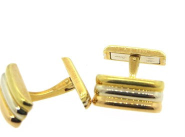 thumbnail image of 1980s Cartier Trinity Tri Color 18k Gold Cufflinks