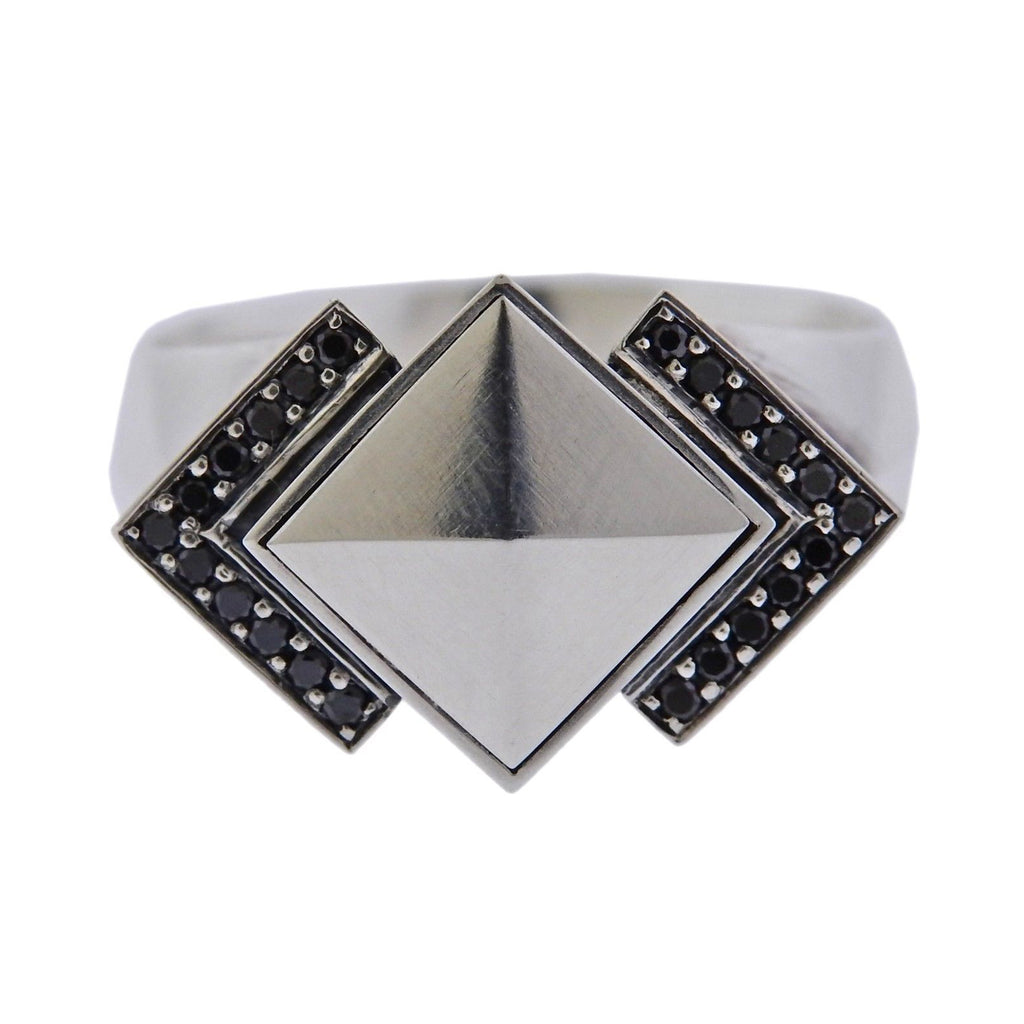 thumbnail image of Georg Jensen Nocturne Black Diamond Sterling Silver Ring