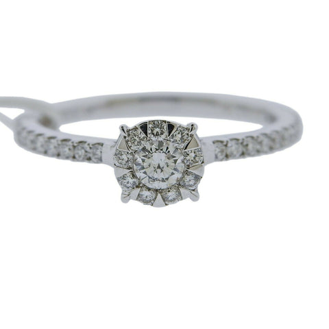 image of Memoire Gold 0.58ctw Diamond Engagement Ring