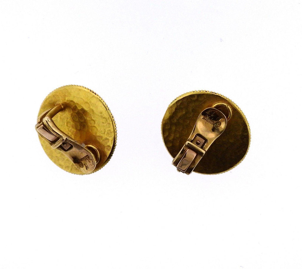 thumbnail image of Lalaounis Greece Ruby Gold Earrings