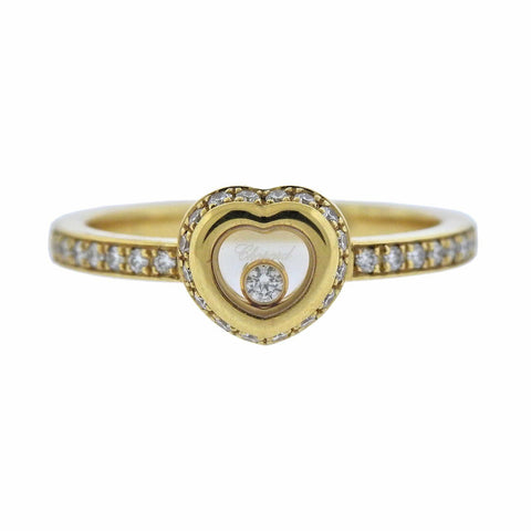 image of Chopard Happy Diamonds Heart Gold Ring