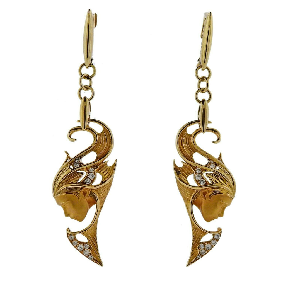 thumbnail image of Magerit Sirena Aire Diamond Gold Earrings