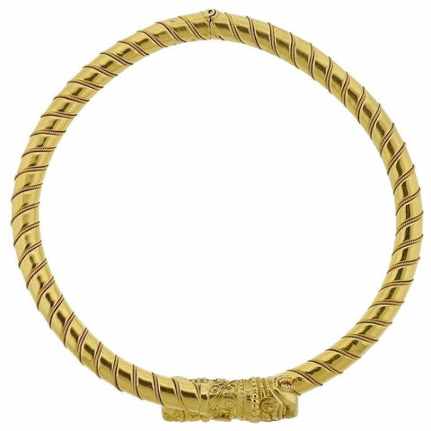Ilias Lalaounis Greece Gold Chimera Collar Necklace