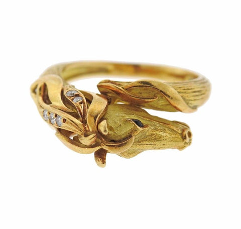 image of J. P. Bellin Diamond Gold Horse Ring