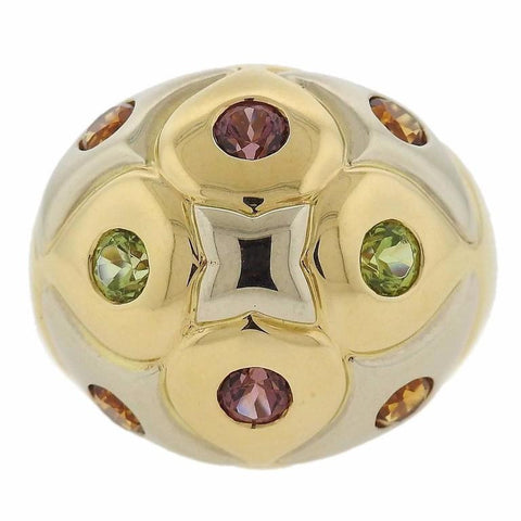 Bulgari Gold Multi Gemstone Dome Ring
