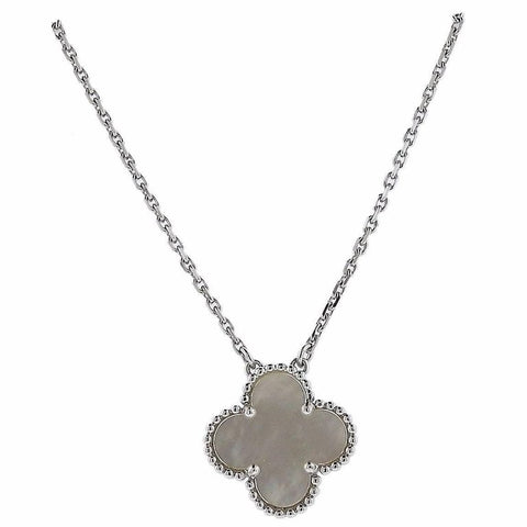 image of Van Cleef & Arpels Alhambra Mother-of-Pearl Gold Pendant Necklace