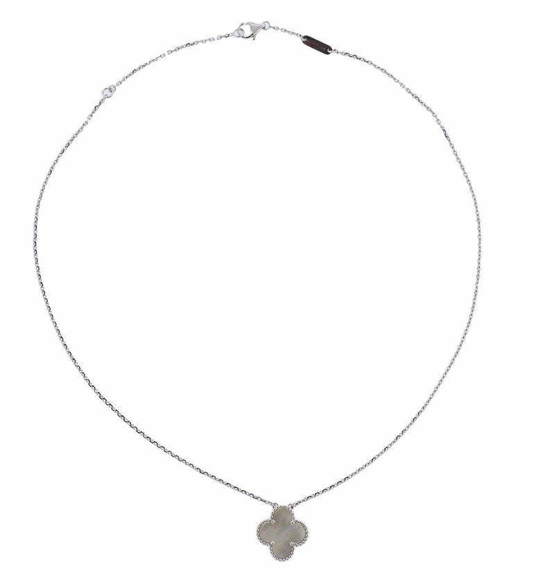 thumbnail image of Van Cleef & Arpels Alhambra Mother-of-Pearl Gold Pendant Necklace